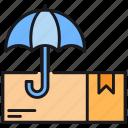 box, cargo, delivery, insurance, logistics icon