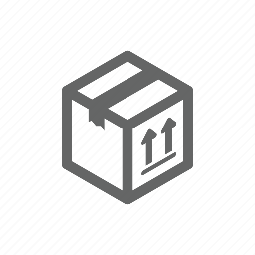 box, cargo, crate, delivering, ecommerce, online, shipping icon