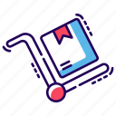cart, handcart, luggage cart, luggage trolley, pushcart icon