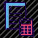 bill, invoice, itemized bill, receipt, statement icon