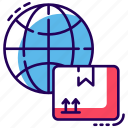 global delivery, global logistics, international logistics, worldwide delivery, worldwide shipping icon