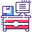 cargo office, cargo service, post office, postal service, postal system icon