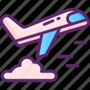air, cargo, freight, logistics, plane icon
