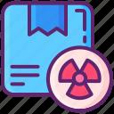 box, dangerous, goods, hazardous, package, parcel icon