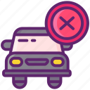 cancelled, car, delivery, failed, unsuccessful icon
