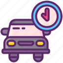 car, delivery, pending, scheduled icon