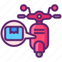 bike, courier, delivery, service icon