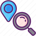 geolocation, gps, location, map, pin icon