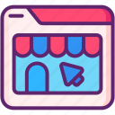 ecommerce, online, shop, shopping, website icon