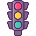 light, road, traffic, traffic light, urban icon