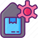 management, system, warehouse, warehouse management system icon