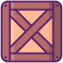box, crate, package, parcel, wooden icon
