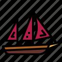 boat, ketch, ship, transportation