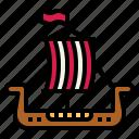 sailboat, ship, transportation, viking icon