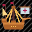 antique, barque, boat, ship, viking