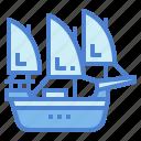 sailboat, schooner, ship, transportation