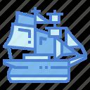 barquentine, boat, ship, transportation