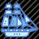 boat, brigantine, sailboat, transportation