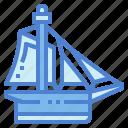 boat, cutter, ship, transportation