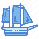 boat, lugger, sailboat, transportation
