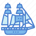 boat, sailboat, schooner, topsail, transportation