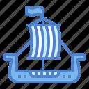 sailboat, ship, transportation, viking