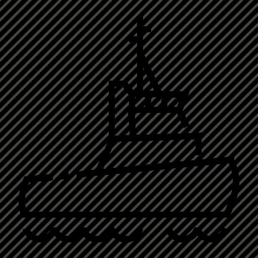 Ship, tug, tugboat, vessels icon - Download on Iconfinder