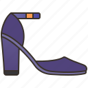 ankle, fashion, footwear, shoes, strap icon