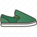 casual, fashion, footwear, on, shoes, slip icon