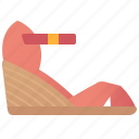 casual, fashion, footwear, shoes, wedges icon