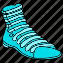 boot, brogan, brogue, clodhopper, dress, footware, heavy shoe, shoe, work shoe icon