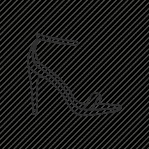 ankle strap, dress shoe, heels, high heels, pumps, stiletto heel, toe pain icon