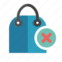 bag, cancel, ecommerce, shop, shopping icon