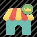 ecommerce, king, market, shop, shopping, store icon