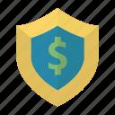 ecommerce, insurance, money, money protection, shopping icon