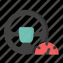 automotive, ecommerce, shopping, steering icon