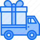 box, car, courier, gift, purchase, shopping, truck icon