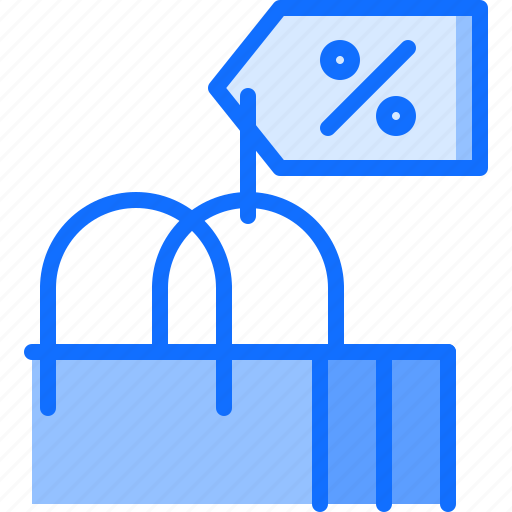 badge, bag, discount, purchase, sale, shop, shopping icon