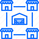 association, chain, group, shop, shopping, stock, store icon