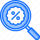 badge, discount, find, magnifier, search, shop, shopping icon