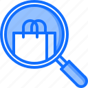 bag, magnifier, product, purchase, search, shop, shopping icon