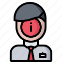 consultant, consultation, information, man, manager, shop, shopping icon