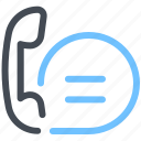 call, chat, support, telephone icon