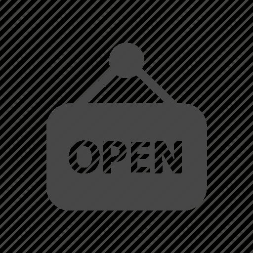 ecommerce, open, shop, shopping icon