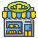 bakery, bread, dessert, food, shop, store, sweets icon