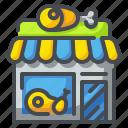 butchers, food, market, meat, pork, shop, store icon