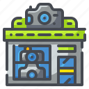 camera, image, photo, photography, picture, shop, store icon
