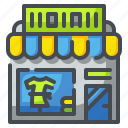 buildings, clothes, clothing, costume, shop, shopping, store icon