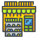 building, consumables, grocery, market, shop, shopping, store icon