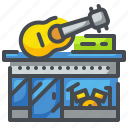 buildings, multimedia, music, musical, shop, song, store icon